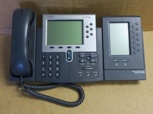 Cisco CP-7962G 7962 Unified IP VoIP Business Telephone Phone + Expansion Module